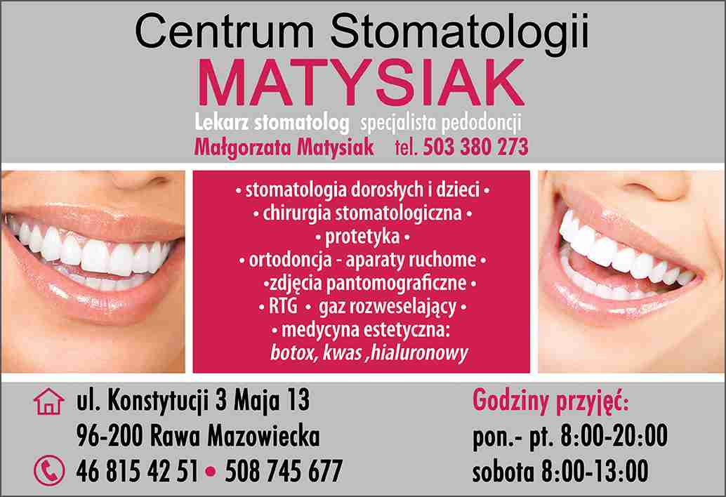 Usługi Stomatologiczne Małgorzata Matysiak Rawa Mazowiecka